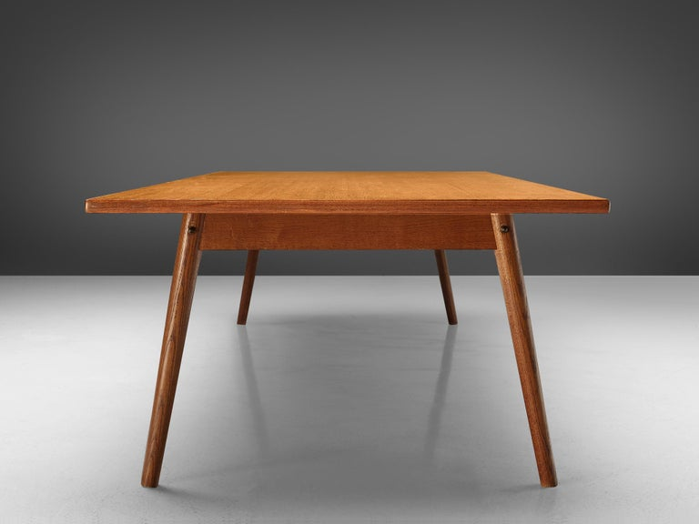 Large Danish Conference or Dining Table in Oak For Sale 3