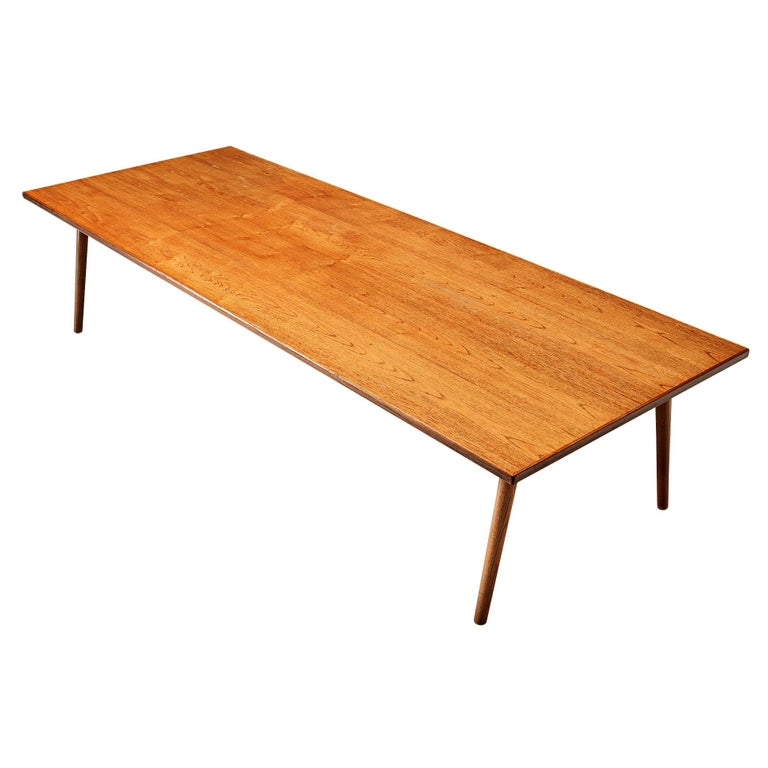 Large Danish Conference or Dining Table in Oak For Sale