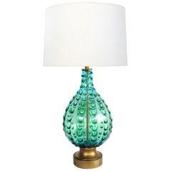 Large Murano 1950s Waterfall Drip Art Glass Lamp