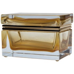 Large Murano Blown 24-Karat Gold Box, Contemporary