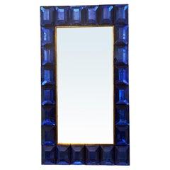 Large Murano Cobalt Blue Glass Diamond Pattern, in Stock