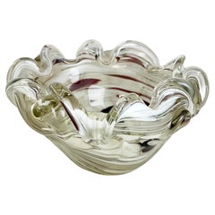 """Large Murano Glass 1,1kg """"FLORAL"""" Bowl Element Shell Ashtray Murano, Italy 1970s"""