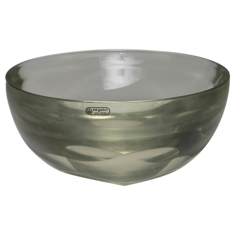 Large Murano Glass Bowl by Seguso For Sale