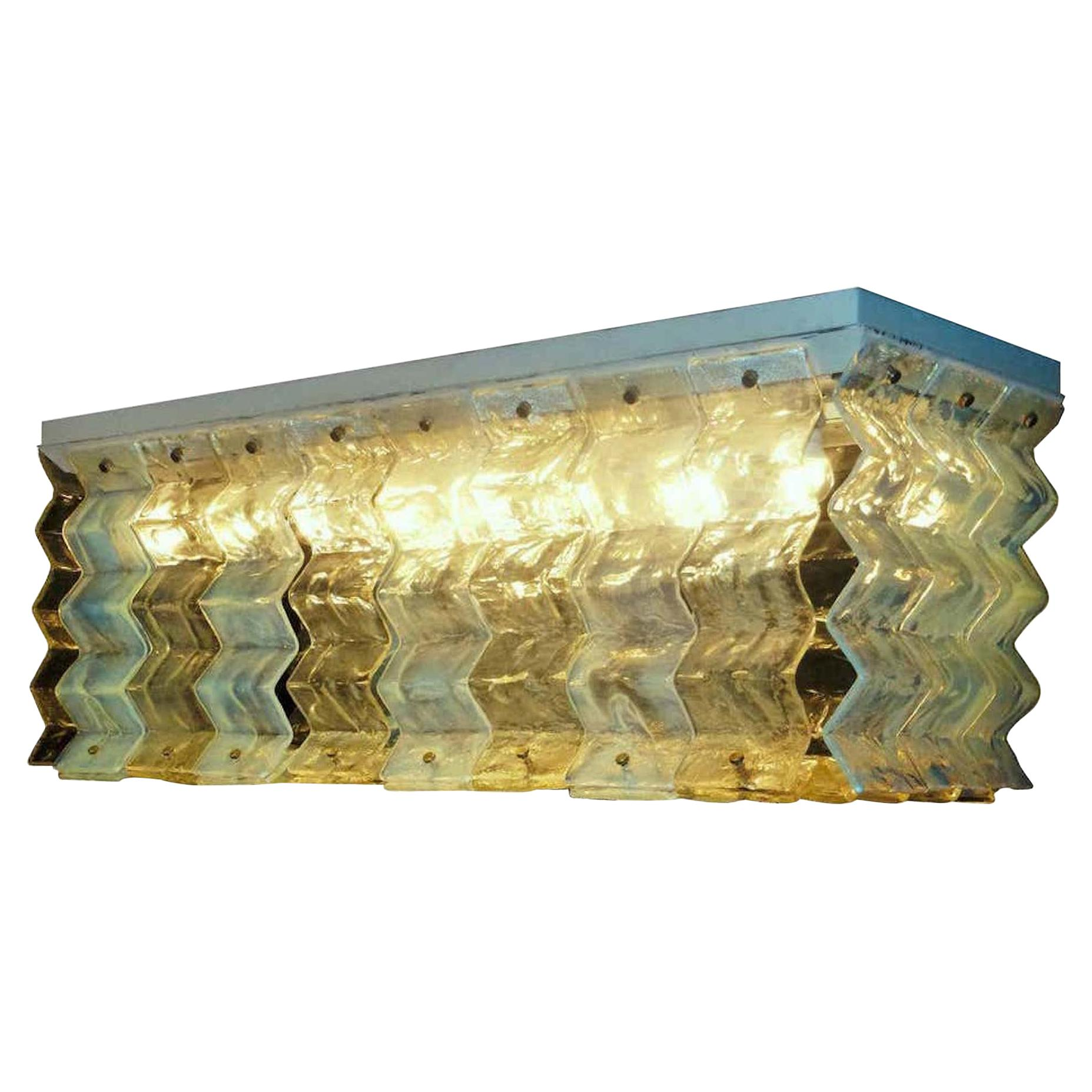 Large Murano Glass Ceiling Lights by Carlo Nason for Mazzega, 1970s
