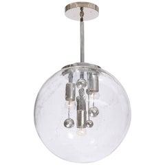 Large Murano Glass Globe Sputnik Pendant