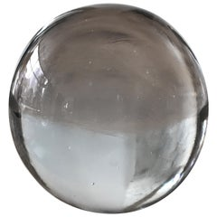 Large Murano Glass Round Paperweight