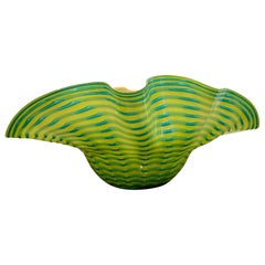 Large Murano Glass Seaform Bowl, in the Style of Chihuly