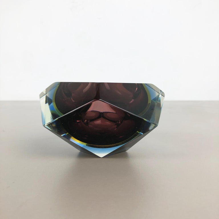 Large Murano Glass Sommerso Bowl Ashtray Element by Flavio Poli, Italy, 1970s In Good Condition For Sale In Kirchlengern, DE