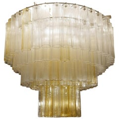 Large Murano Glass Tubes Chandeliers