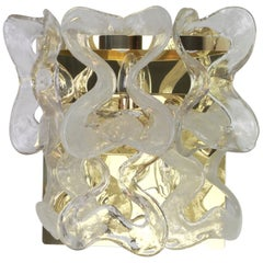 1 of 2 Large Murano Glass Wall Sconce by Kalmar Mod. Catena, Austria, 1960s