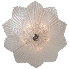 Large Murano Star-Shaped Ceiling Fixture in Nickel or Customizable