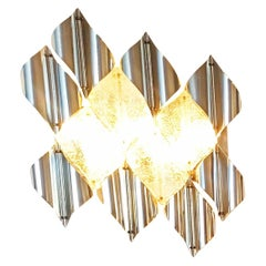Large Murano Wall Light Sculpture, Italy, 1970s