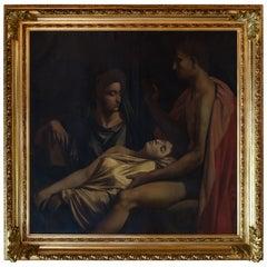 Large Mythological Oil Painting 19th Century
