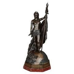 Large Napoleon III Period Bronze Sculpture by Jules Bertin