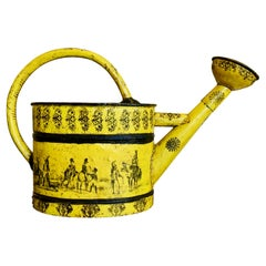 Large Napoleon III Yellow Tole Watering Can