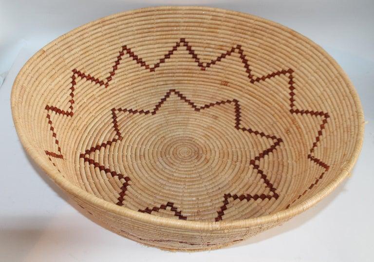 Folk Art Large Native American Basket For Sale