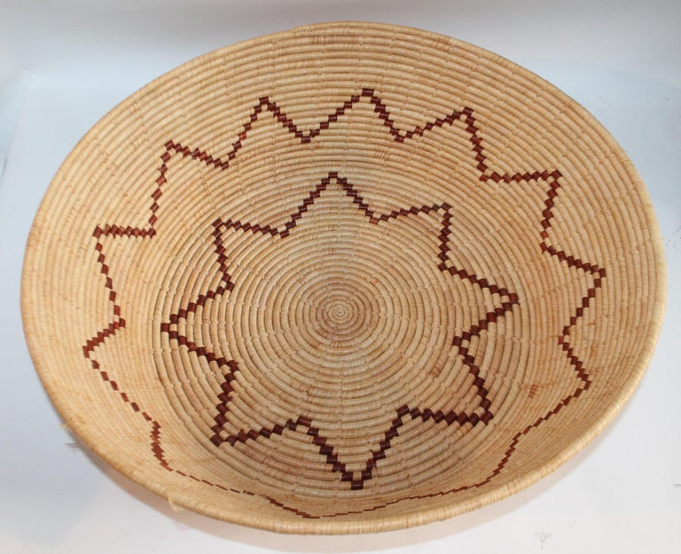 Hand-Crafted Large Native American Basket For Sale
