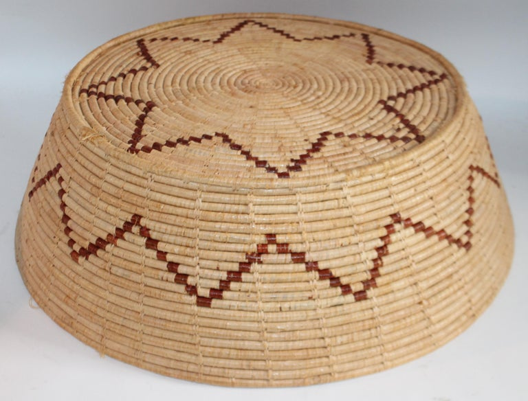 Straw Large Native American Basket For Sale