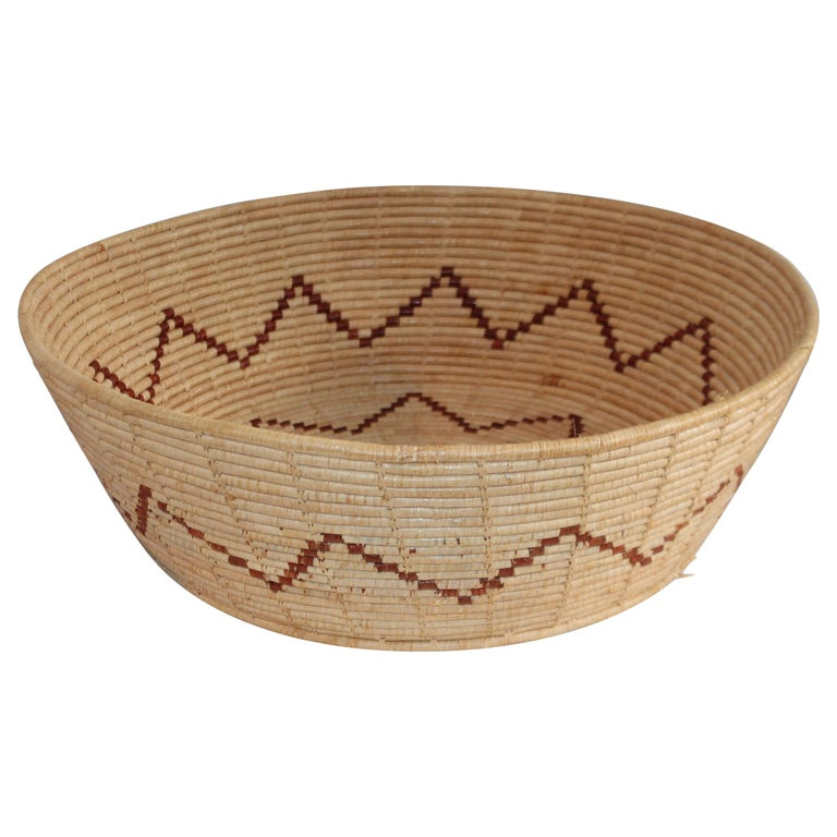 Large Native American Basket For Sale