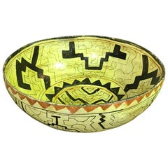 Large Native American Indian 'Shipibo-Conibo Tribe' Pottery Bowl
