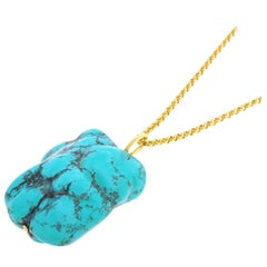 Large Natural Turquoise Pendant
