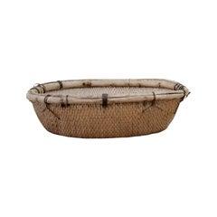 Large Natural Vintage Chinese Basket
