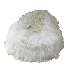 Large Shaggy Bean Bag Chair Cover Long Wool Sheepskin - Made in Australia