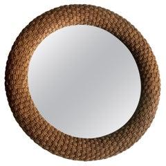 Large Nautical Woven Cord Large Circular Mirror by Lexington