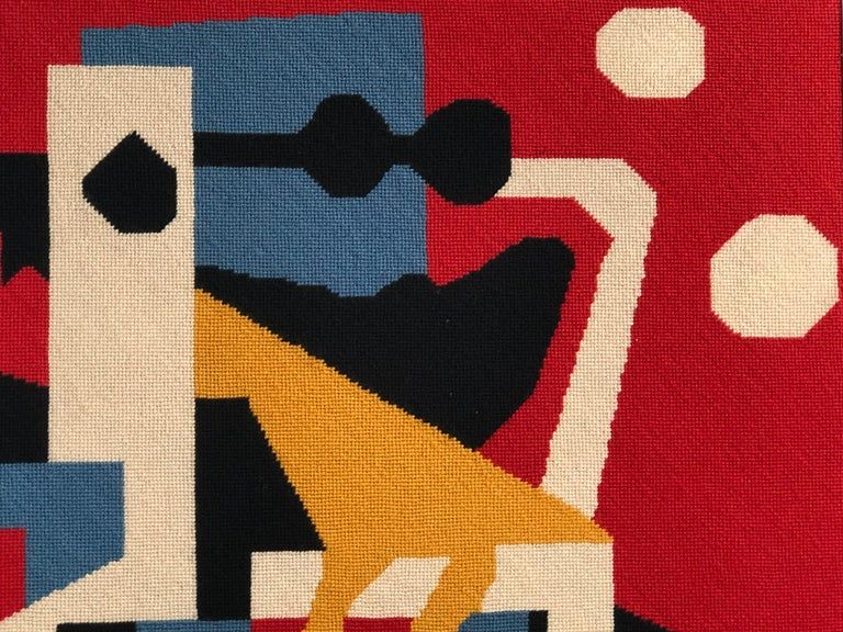Large Needlepoint Picture after Stuart Davis Colonial Cubism Painting 9