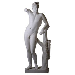 Large Neoclassic Plaster Statue of Dionysos or Bacchus, France, circa 1930
