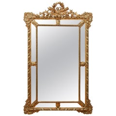 Large Neoclassical Gilt Mirror, French, 19th Century