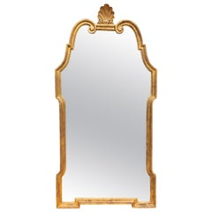 Large Neoclassical Midcentury Giltwood Mirror