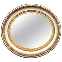 Large Neoclassical Painted and Parcel-Gilt Mirror