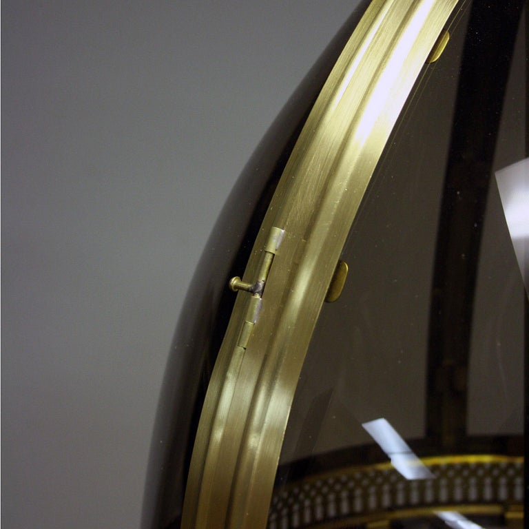 Large New Bronze coloured Oval Hanging Lantern In Excellent Condition For Sale In London, GB