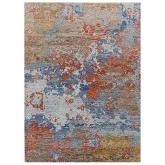 Large New Handmade Wool Modern Contemporary Design Rug