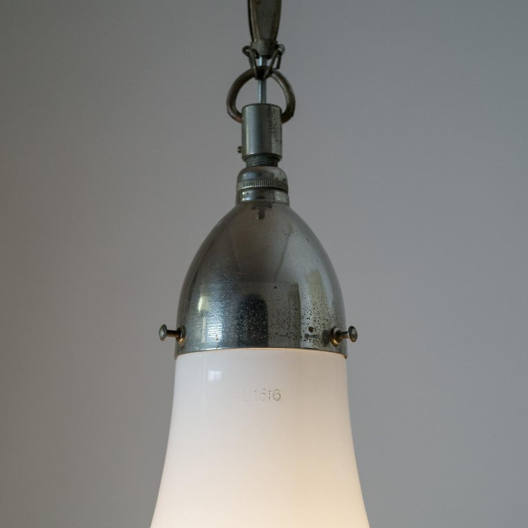 Large Nickel 'Luzette' Pendant by Peter Behrens, circa 1910 For Sale 7