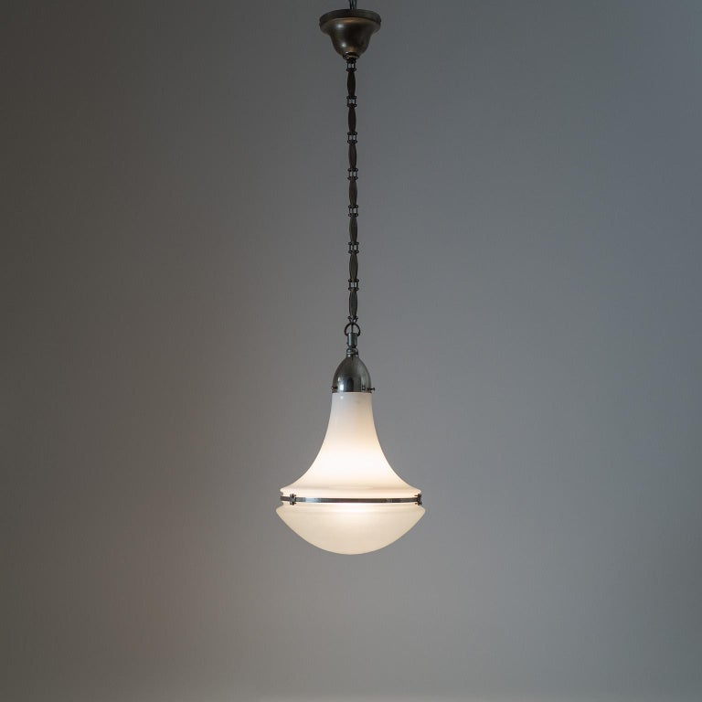 Large Nickel 'Luzette' Pendant by Peter Behrens, circa 1910 For Sale 12