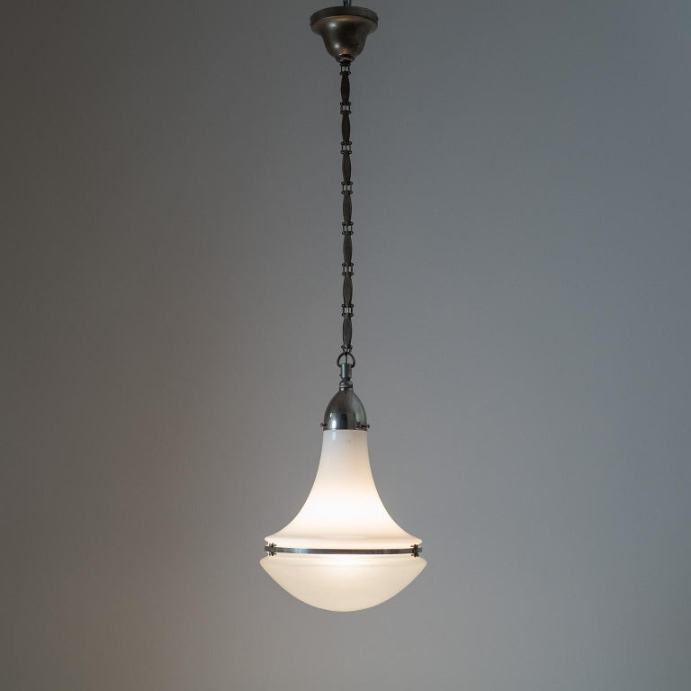 German Large Nickel 'Luzette' Pendant by Peter Behrens, circa 1910 For Sale