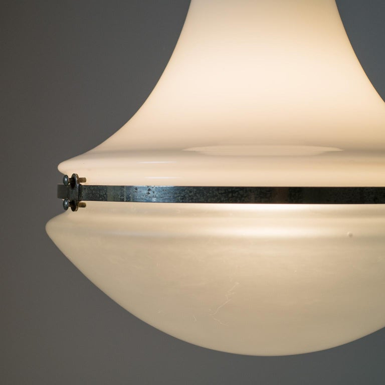 Early 20th Century Large Nickel 'Luzette' Pendant by Peter Behrens, circa 1910 For Sale