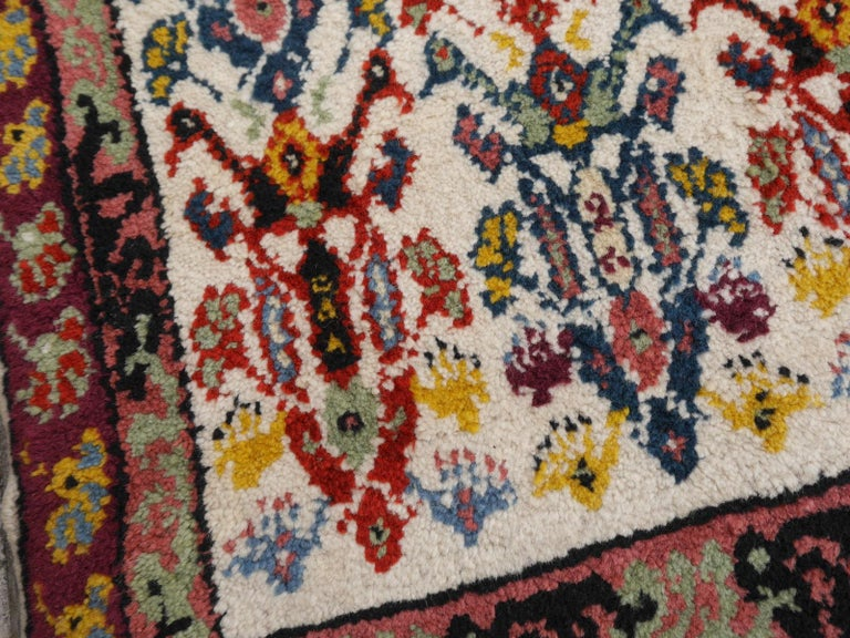 Large North African Moroccan Vintage Rug, Beige, Purple, Gold, Pink Blue For Sale 4
