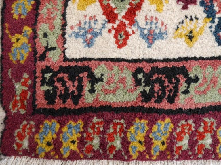 Large North African Moroccan Vintage Rug, Beige, Purple, Gold, Pink Blue For Sale 5