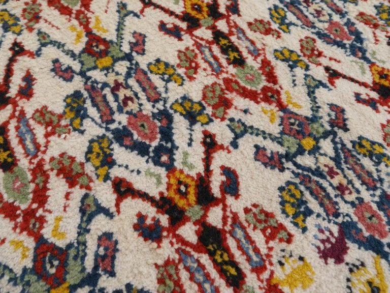 Large North African Moroccan Vintage Rug, Beige, Purple, Gold, Pink Blue For Sale 6