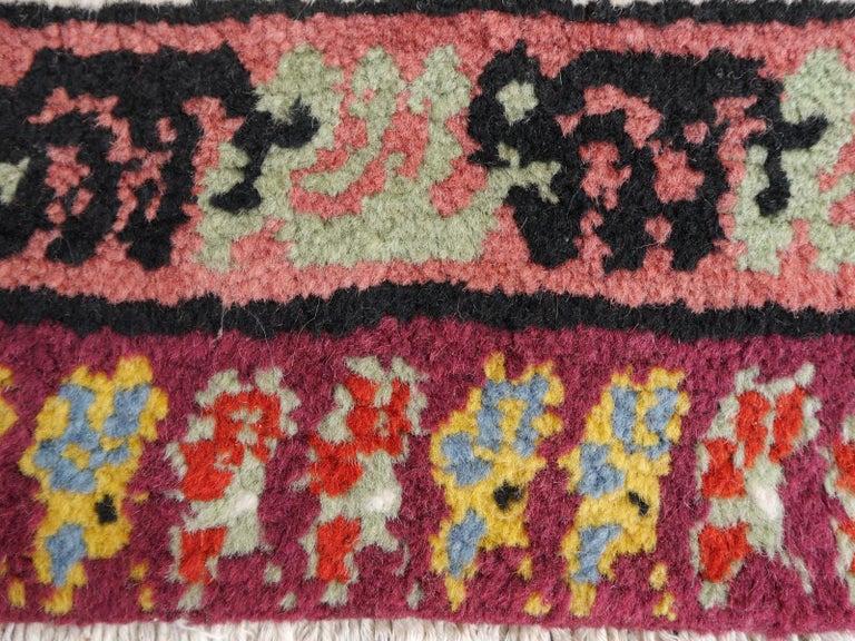 Large North African Moroccan Vintage Rug, Beige, Purple, Gold, Pink Blue For Sale 8
