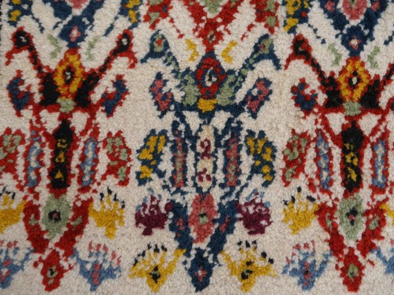 Large North African Moroccan Vintage Rug, Beige, Purple, Gold, Pink Blue For Sale 9