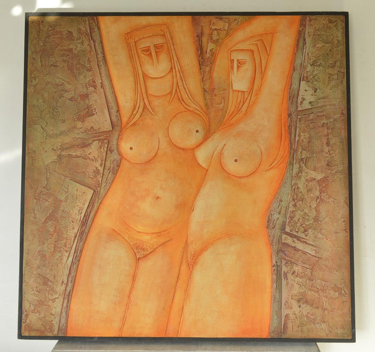 Wonderful painting of nudes titled