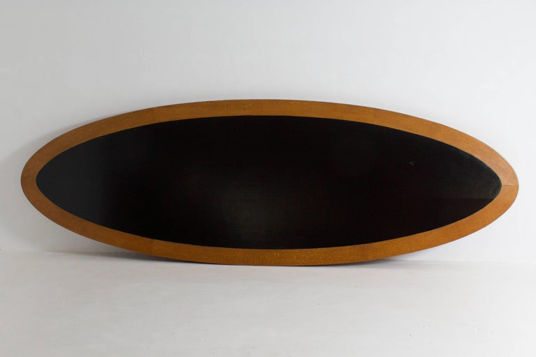 Large Oak Art Deco Haagse School Conference Table, 1920s In Good Condition For Sale In Amsterdam, NL