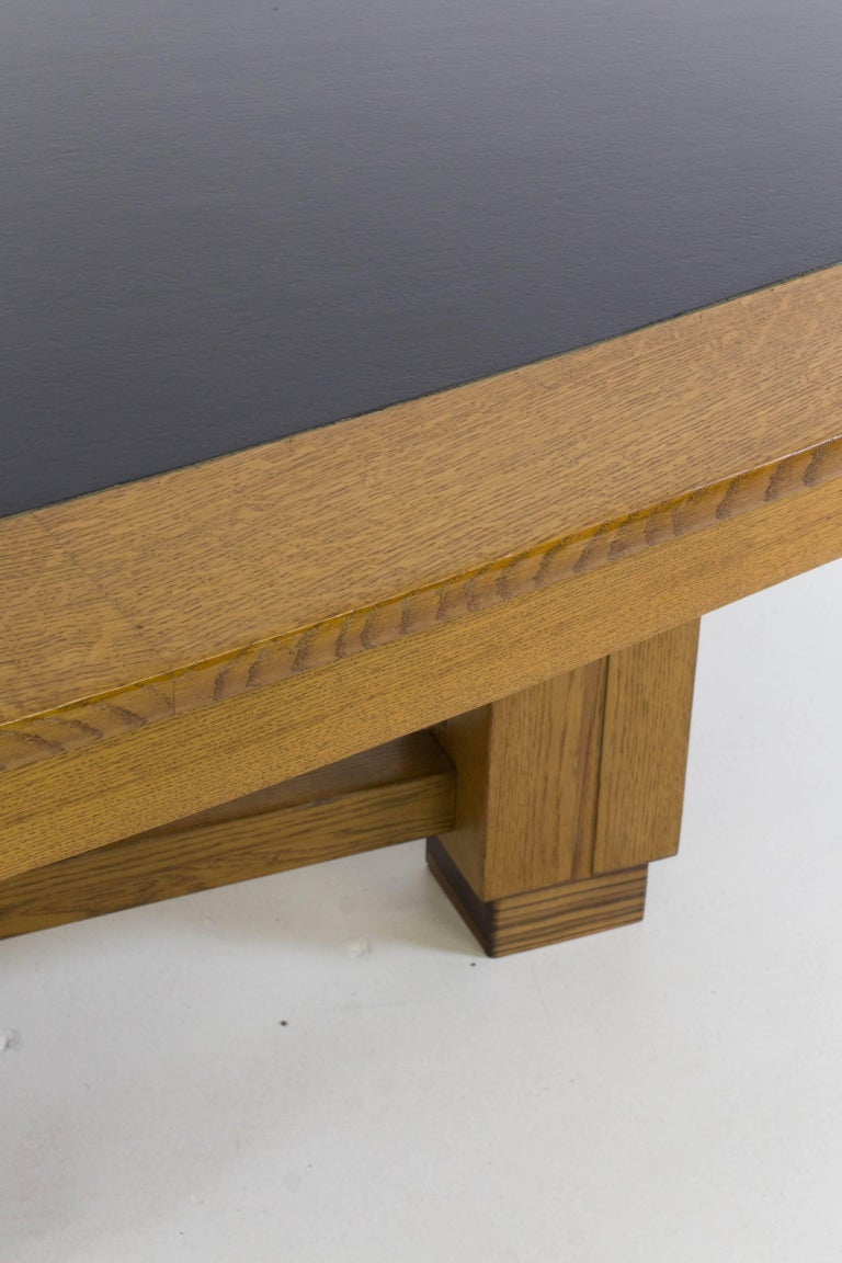 Large Oak Art Deco Haagse School Conference Table, 1920s For Sale 3