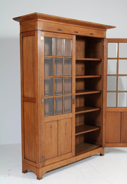 Arts and Crafts Large Oak Arts & Crafts Art Nouveau Bookcase, 1900s For Sale