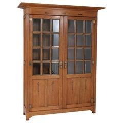 Large Oak Arts & Crafts Art Nouveau Bookcase, 1900s