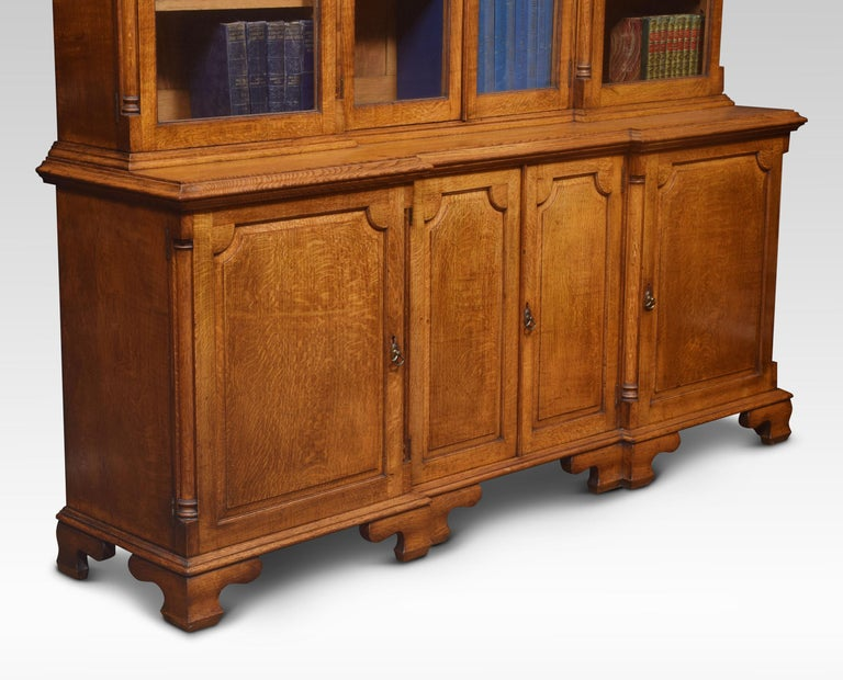 Large Oak Four Door Bookcase For Sale 1